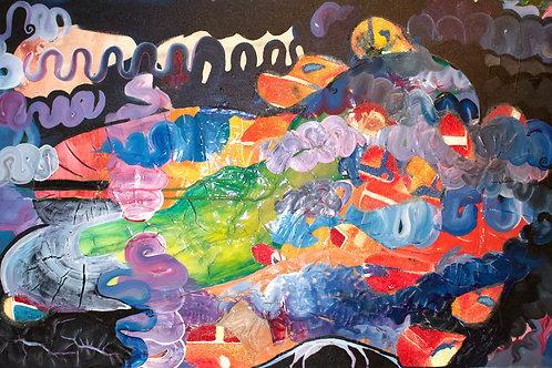 Dragon Boat Original Painting