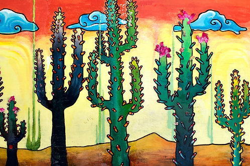 Cacti Vibe Original Painting
