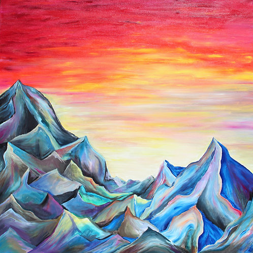 Rocky Mountain Sunrise Greeting Card