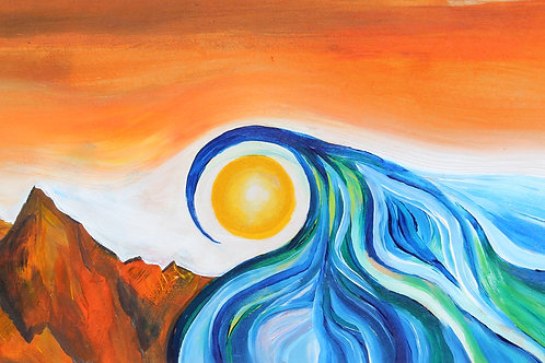 The Sun, Sea & Sky Greeting Card