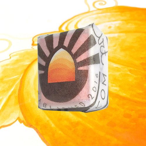 Pumpkin Magnetised Watercolour half pan