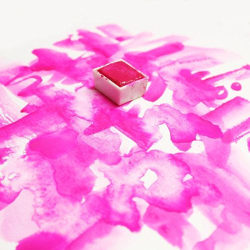 Hot Pink Magnetised Watercolour half pan