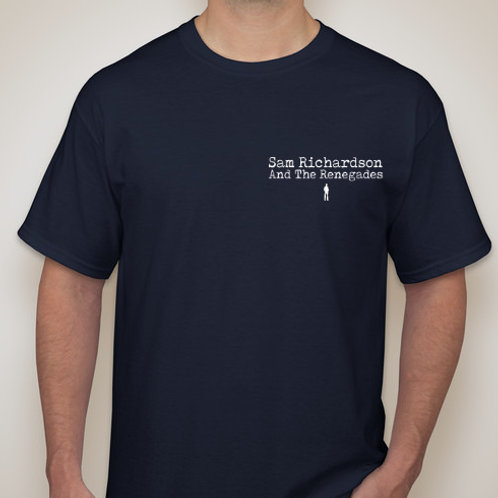 Unisex Navy Blue T-Shirt - Text and Logo