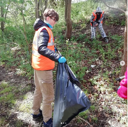 Litter picking in the local community