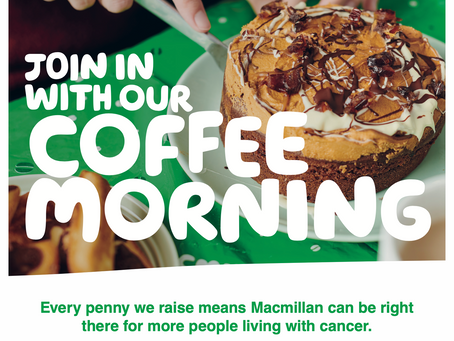 Save the date - MacMillan Coffee morning