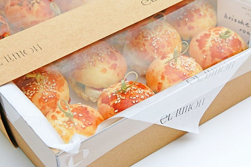 drop off finger food - brioche sliders -$90 (24 pieces - choose two varieties)