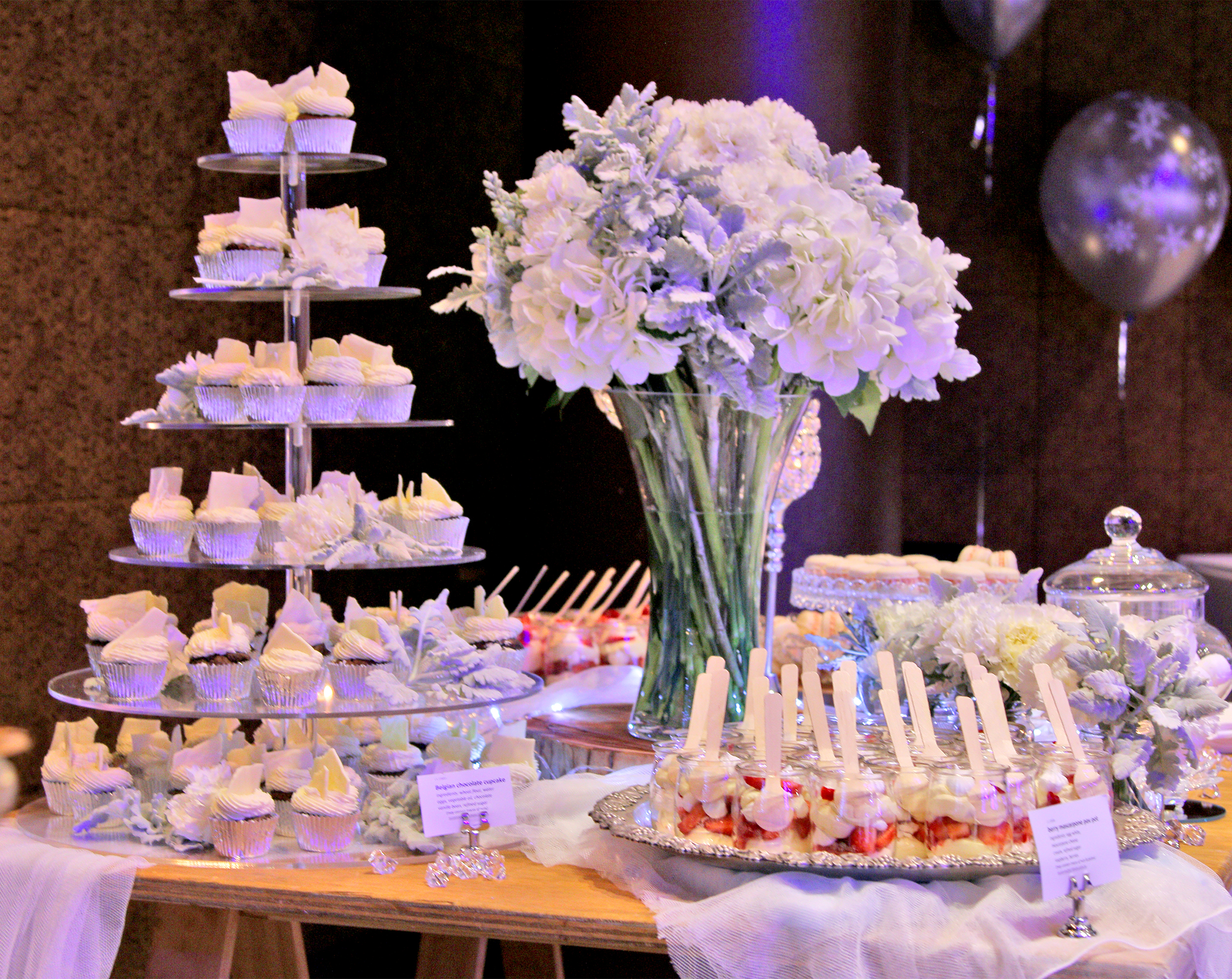 corporate dessert table