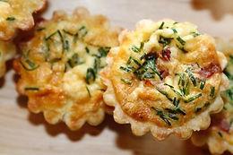 drop off finger food - Quiche Lorraine petite savoury tartlets(24)$90