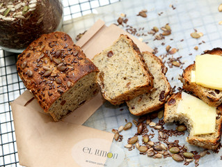 afternoon tea-home made 5 seeded bread....