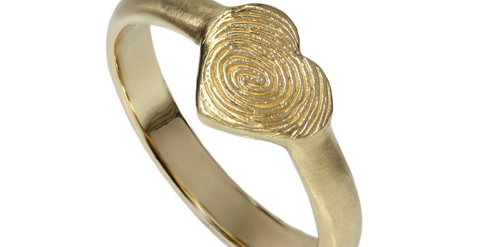 טבעת חותם הלב טביעת אצבע