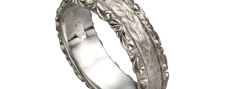 טבעת נישואין גלוריה זהב לבן