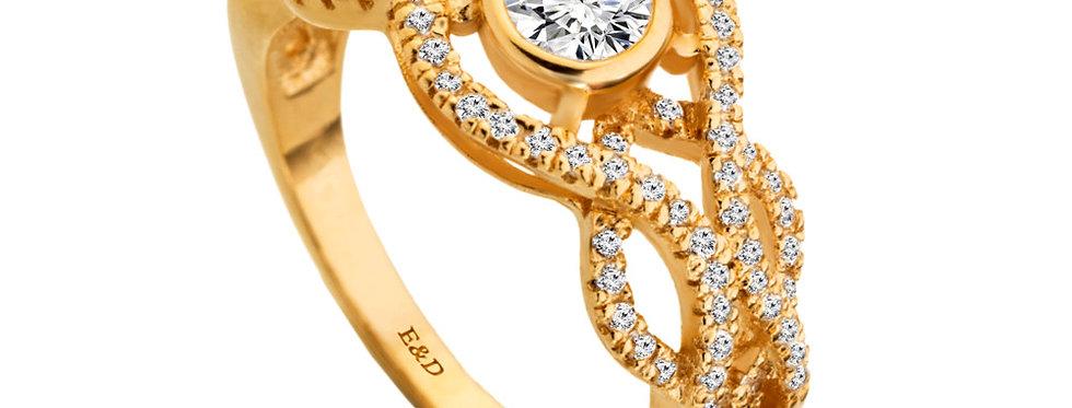 טבעת אירוסין יהלומים קשר האינסוף