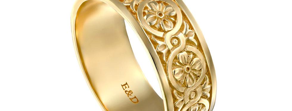 טבעת נישואין אינסוף סגנון ארט דקו