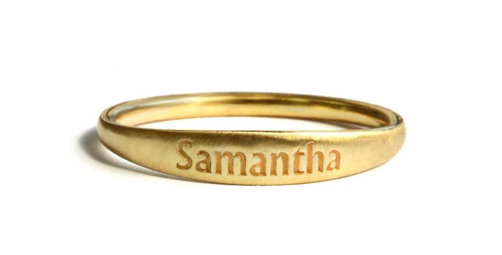 טבעת זהב סמנתה