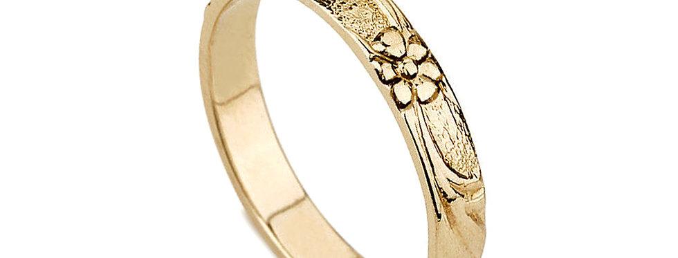 טבעת נישואין כלנית לאישה