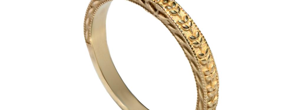 טבעת נישואין לאישה צמדי עלים