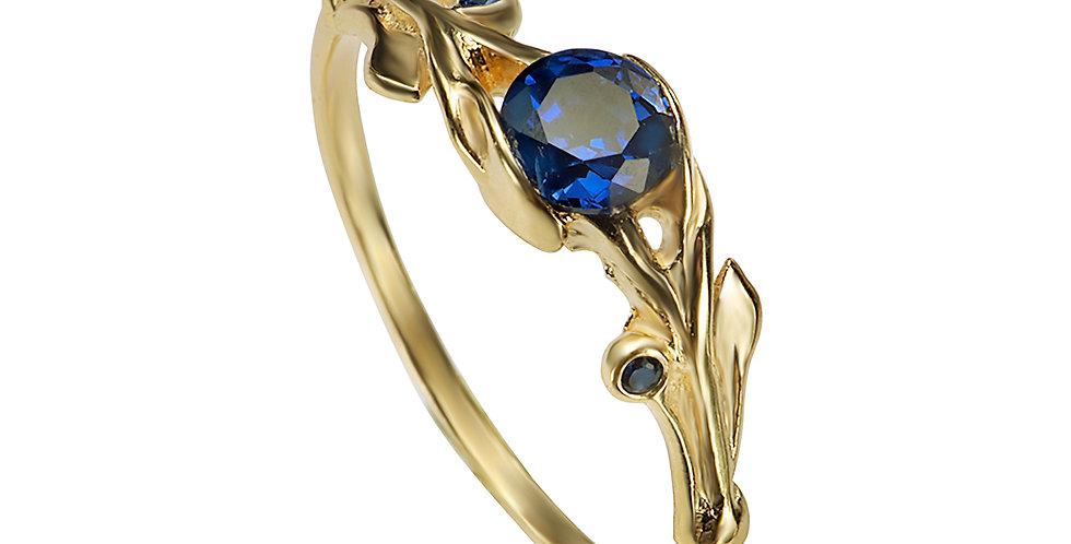 טבעת אירוסין מרגנית ספיר כחול