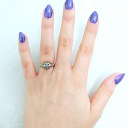 טבעת אירוסין יהלום גולמי