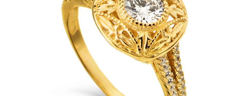 אירוסין הוד והדר יהלומים וזהב 14 קראט
