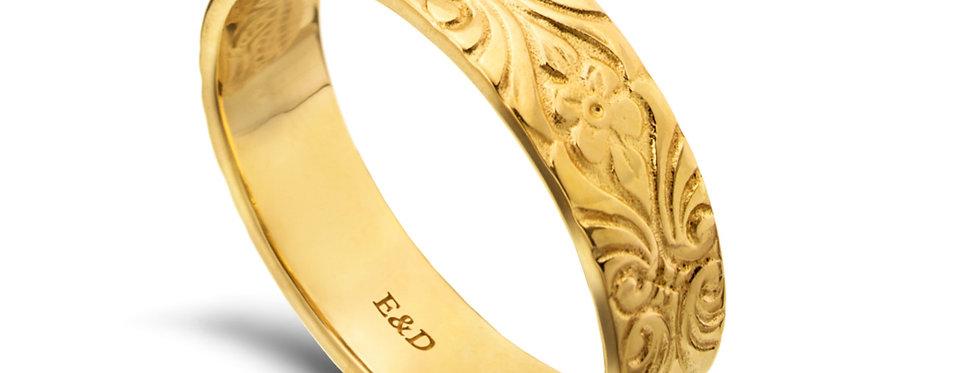 טבעת נישואין ארט דקו מדיום