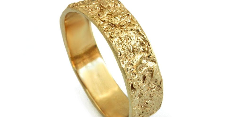 טבעת נישואין ראסטיק סטון