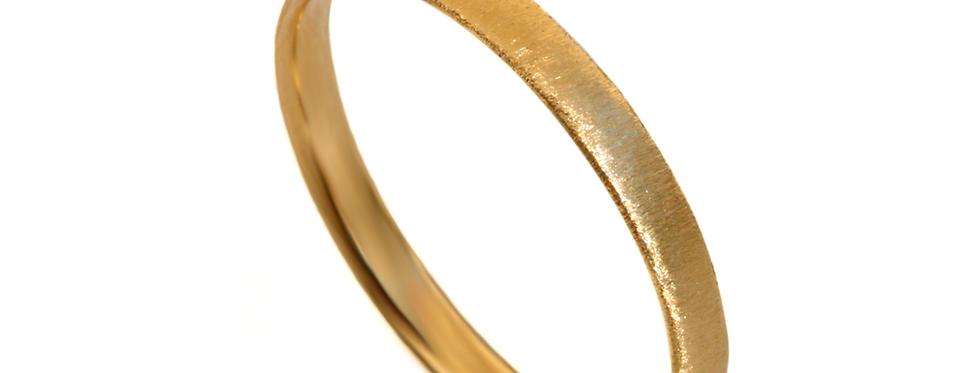 טבעת נישואין זהב צהוב מוברש