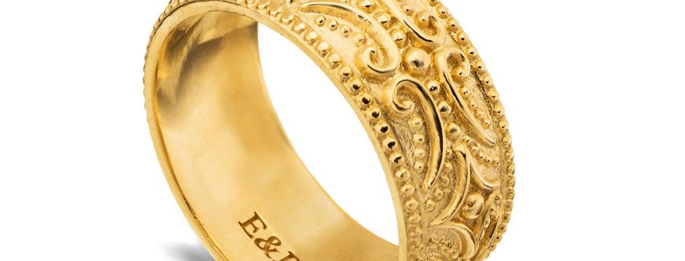 טבעת נישואין רחבה מעוז שבטי