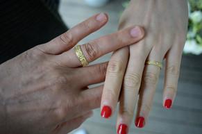 טבעת נישואין סט תואם לחתן ולכלה