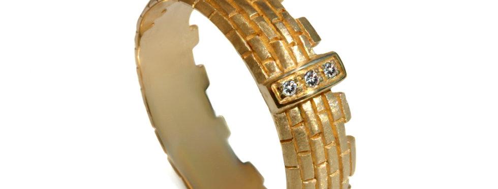 טבעת שער ירושלים זהב צהוב