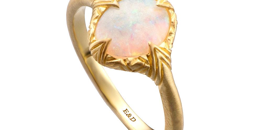 טבעת זהב אופל אליפטי