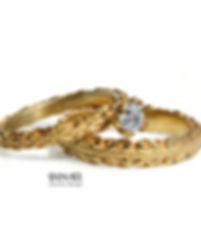 סט טבעות זהב נישואין ואירוסין לכלה מעצב תכשיטים בחיפה והצפון