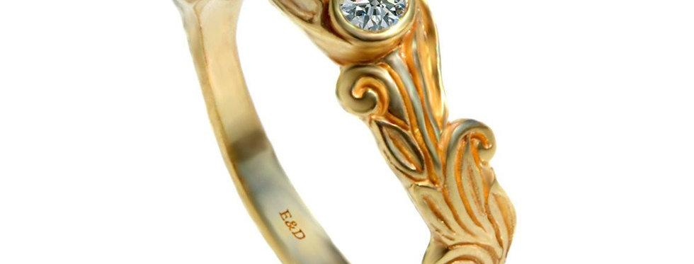 טבעת יהלום חריטות ציוריות