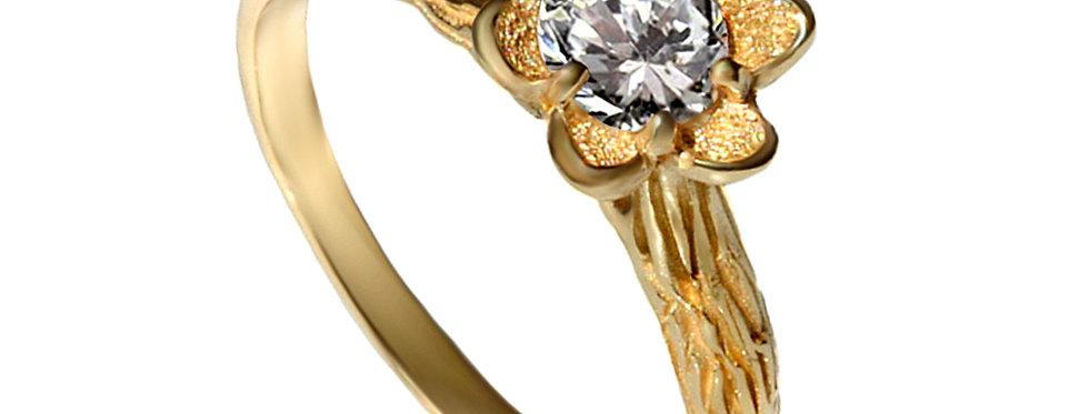 טבעת אירוסין יהלום עץ עתיק