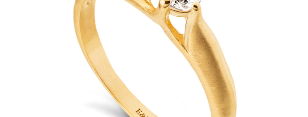 טבעת אירוסין להבות הזהב