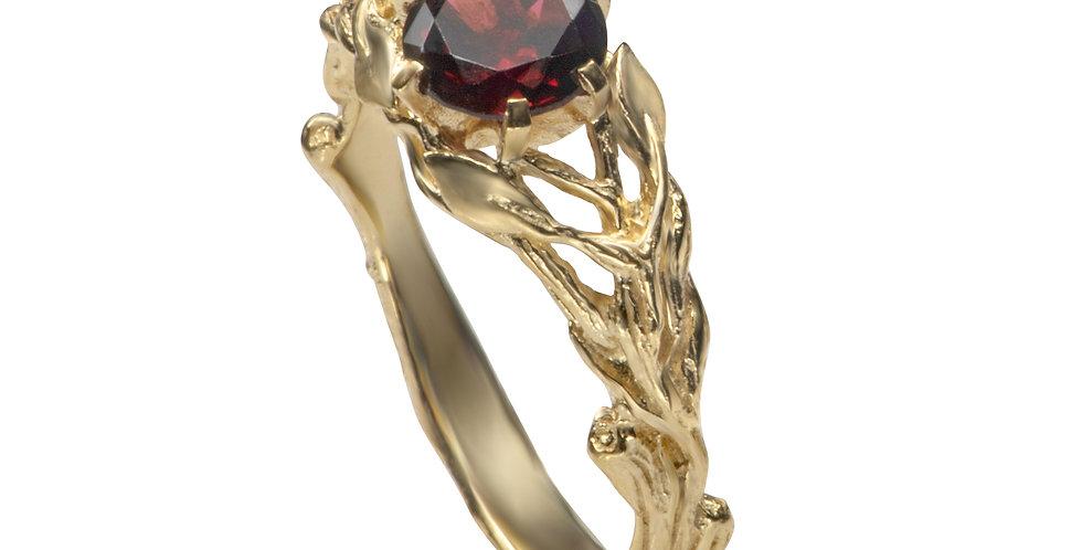 טבעת 'יערות ניו-זילנד' גרנט זהב 14 קראט
