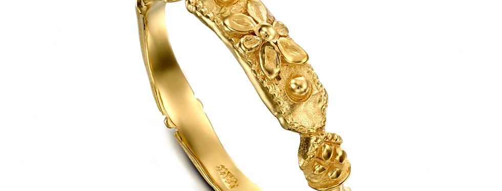 טבעת נישואין דקה פרח העתיקות