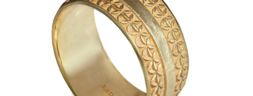 טבעת נישואין רחבה טוקסידו