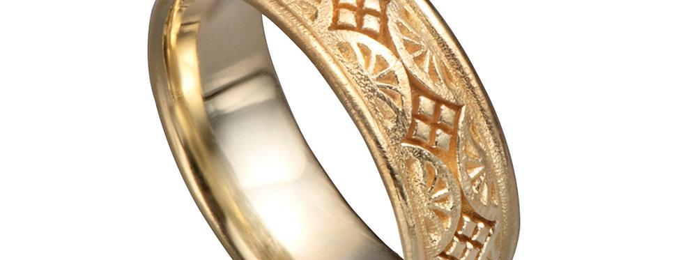 טבעת אקוודור נישואין רחבה