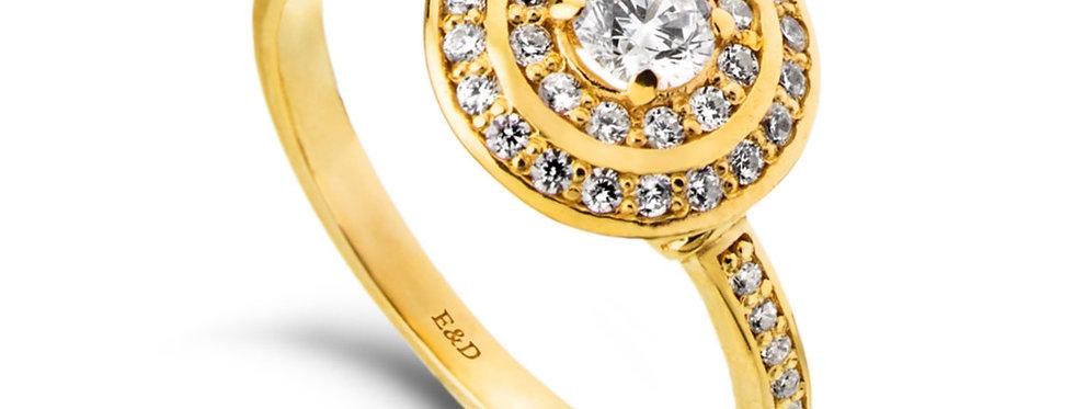 טבעת אירוסין אורה הכפולה