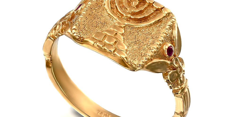 טבעת מנורת הזהב 14 קראט