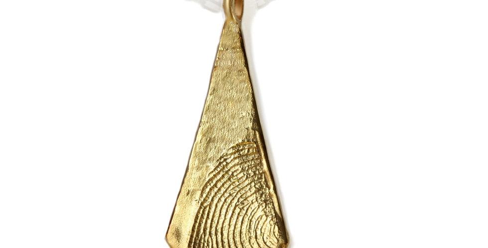 תליון זהב טביעת אצבע- פוליגון גולמי