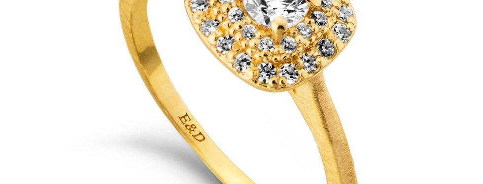 טבעת אירוסין הילה מדורגת