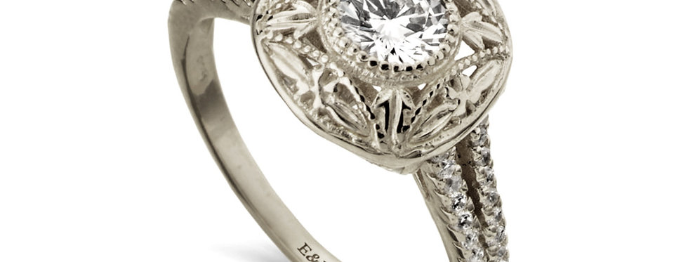 טבעת הוד והדר אירוסין יהלומים 18 קראט