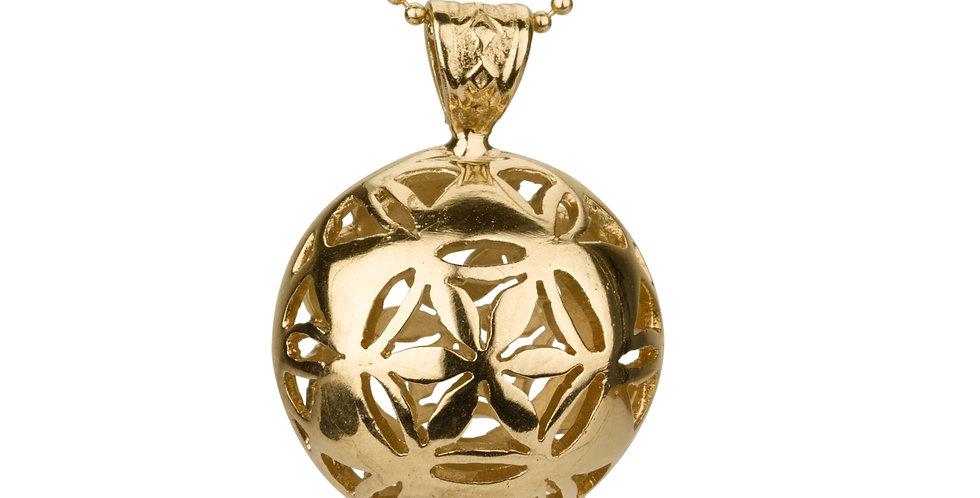 תליון זהב פרח מגן דוד