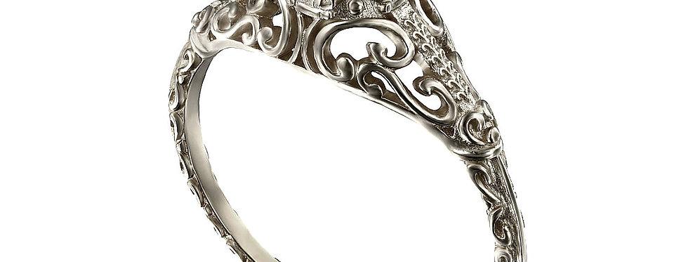 טבעת אירוסין ויקטוריה זהב ואמטיסט
