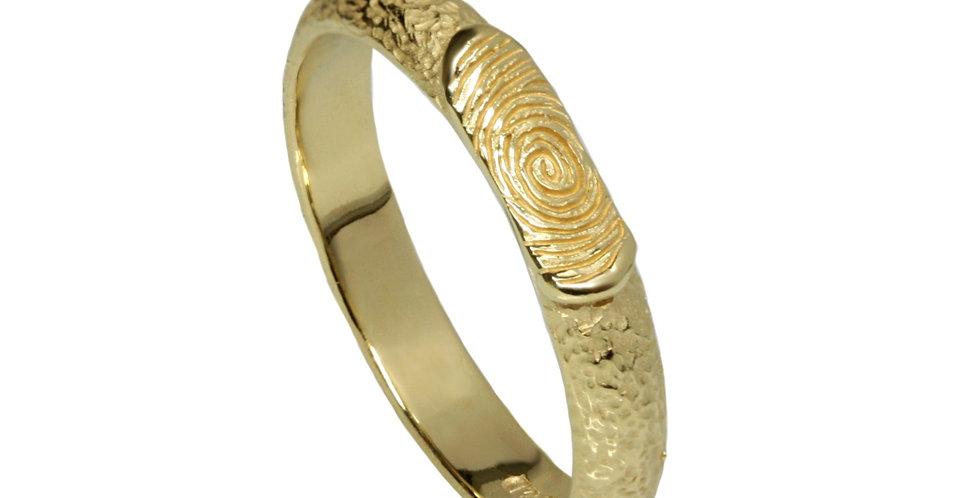 טבעת טביעת אצבע מרוקעת