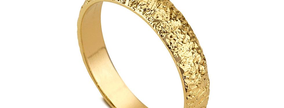טבעת נישואין קיפולי זהב דקה