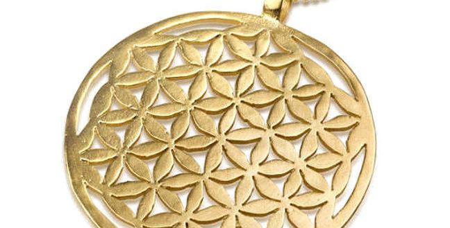 תליון זהב פרח החיים אוניברסלי