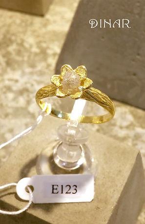 טבעת אירוסין ייחודית מעוצבת דינר מעצבי תכשטים חיפה והצפון