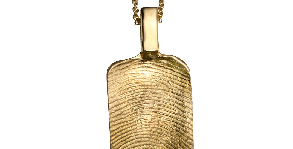 תליון טביעת אצבע דיסקית זהב